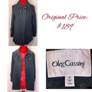 Vintage Oleg Cassini Wool Blend Peacoat